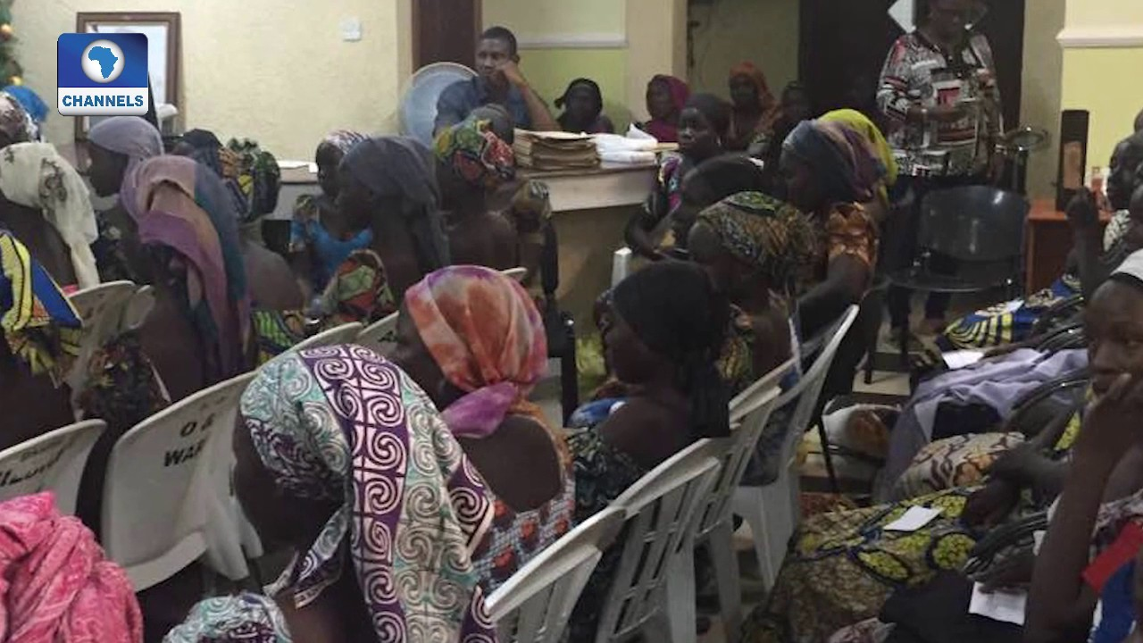 Download President's Chief Of Staff Receives 82 Released Chibok Girls