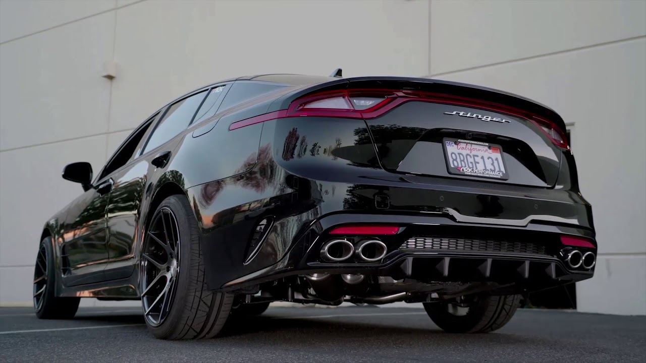 kia stinger 3 3t grip exhaust system by ark performance. Black Bedroom Furniture Sets. Home Design Ideas