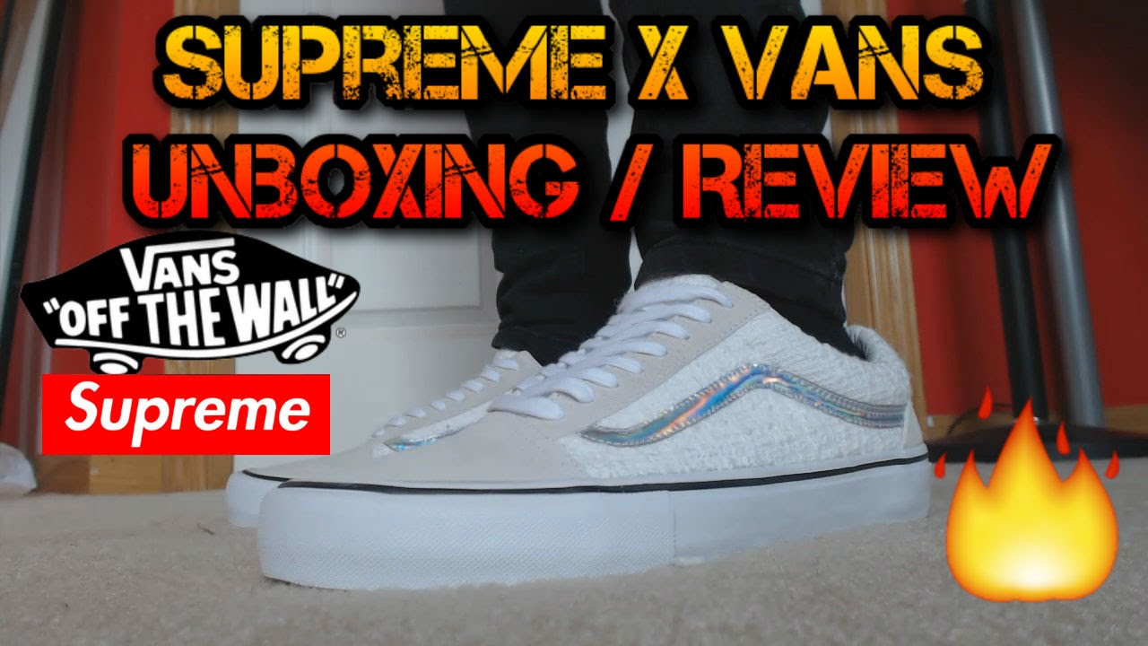 Supreme x Vans White Iridescent Old Skool Unboxing Review W  On-Feet Look!  - YouTube 63752e8b6