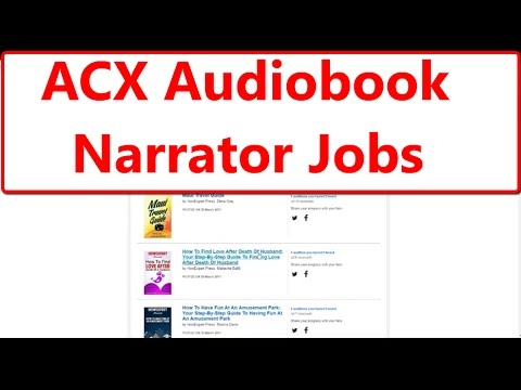 ACX Amazon Audio Book Narrator Audiobook Jobs | 3 Tips to Get Hired as an  ACX Narrator