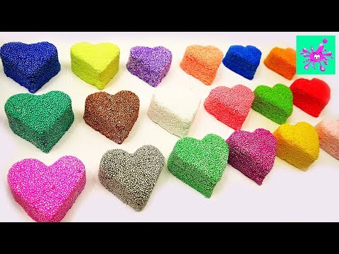 Learn the Colors with Soft Foam | Funny Multicolored Hearts | Learn Color
