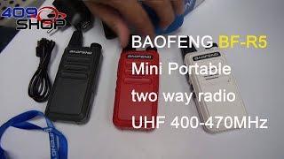 Баофэн БФ-П5-червоний міні портативний двостороннє радіо УВЧ 400-470 МГц