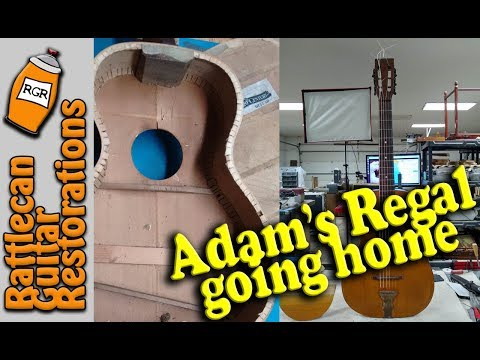 REGAL Parlor Guitar Going Home | RATTLECAN GUITAR RESTORATIONS By James O'Rear