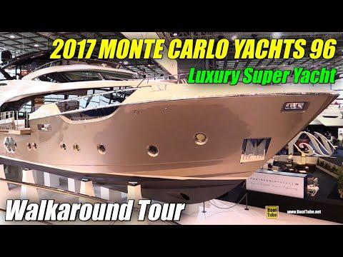 2017 Monte Carlo Yachts 96 Luxury Super Yacht - Walkaround - 2018 Boot Dusseldorf Boat Show