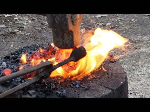 Making Iron In The Woods - Bloomery Furnace