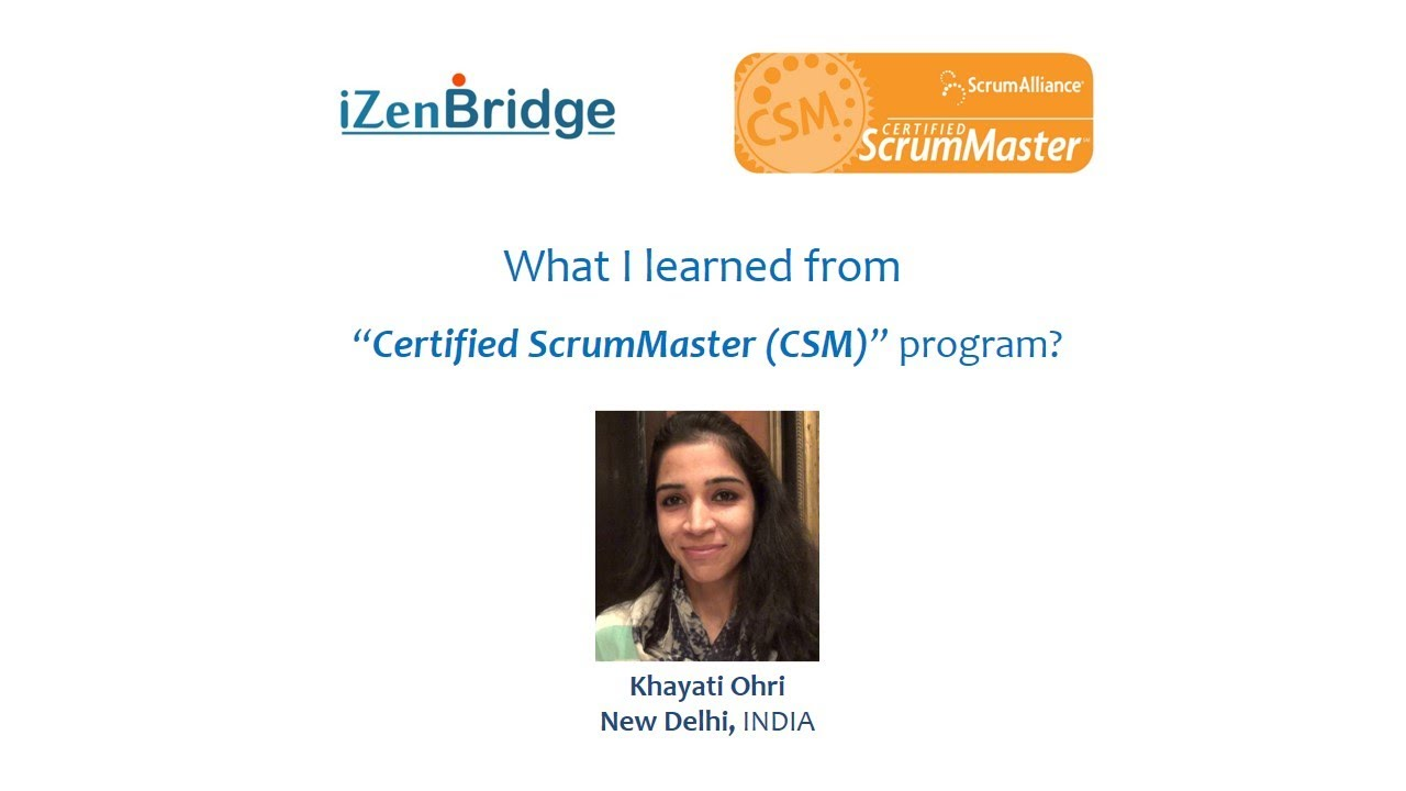 CSM Certification Training in Bangalore | Certified Scrum