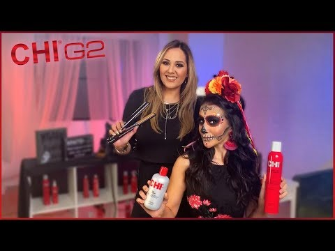 Day of the Dead Inspired Style - CHI G2 1″ Professional Flat Iron