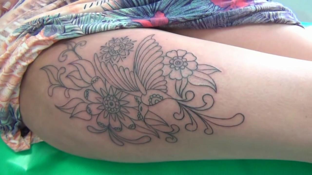 Tattoo Na Coxa Beija Flor Rendado By Jack5