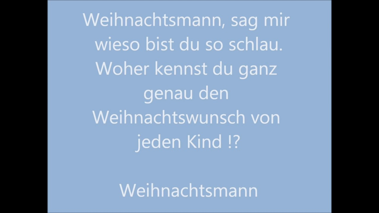 weihnachtsmann co kg lyrics song youtube