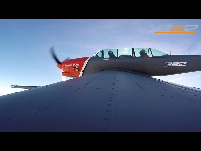 Cockpit Footage Test Flight of YAK-52 powered by Fuel Efficient RED A03 Piston Engine