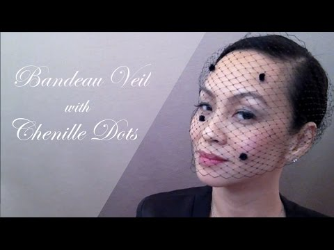 DIY Bandeau Veil With Chenille Dots