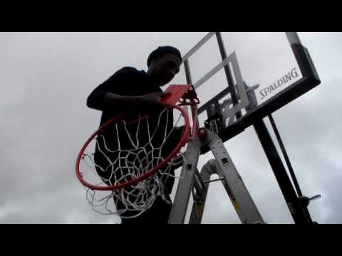 Spalding 54 Portable Basket Ball System Project Youtube