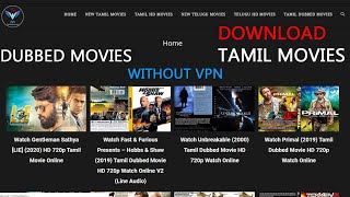How To Download Tamil Movies in Easy Method | Dubbed Movies | Fast Downloading Without VPN | Tamil