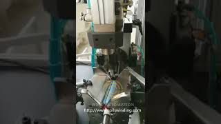 Automatic dual flyer armature winder for  Slotted type commutator skew armature not hook type WIND S