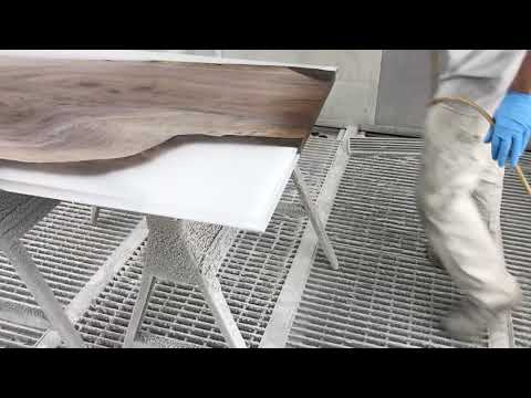 Finishing my first epoxy resign coffee table