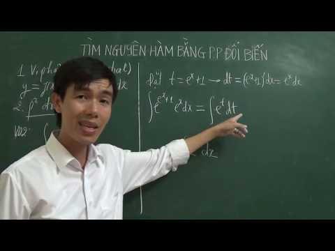 Tìm nguyên hàm bằng phương pháp đổi biến số