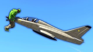 PIERCED BY A JET PLANE! (GTA 5 Funny Moments)