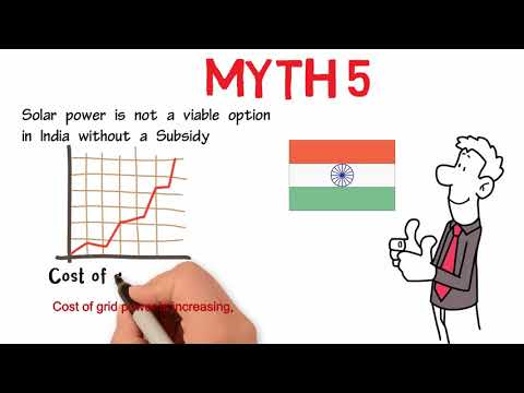 Myth 5 Solar power is not a viable option in India without a Subsidy