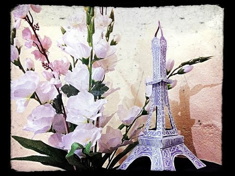 DIY | How to Make Eiffel Tower using Paper | Paper Eiffel Tower | school project/model