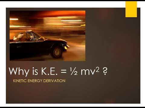 Kinetic energy derivation