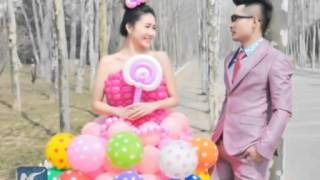 Young man makes wedding dresses with 600 balloons for fiancee