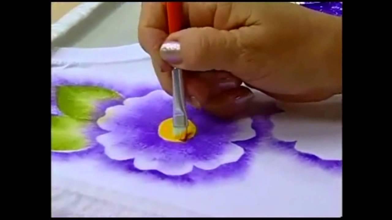 Espaco Condor Pintura Em Tecido Estamparia De Flores Youtube