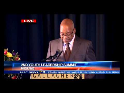 President Zuma addresses 2nd Youth Managers Foundation summit