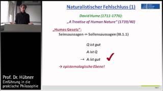 Praktische Philosophie 2a: Metaethik - Sein-Sollen-Fehlschluss vs. naturalistischer Fehlschluss