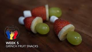 Week 5 Snack - Grinch Fruit Snacks