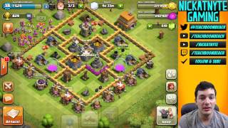 nickatnyte's Clash of Clans Beginner Let's Play - Spell Factory & Walls!