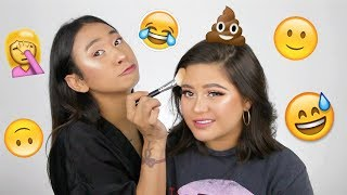 MY BROTHER DOES MY MAKEUP FT. OPITA | [Bahasa Indonesia]