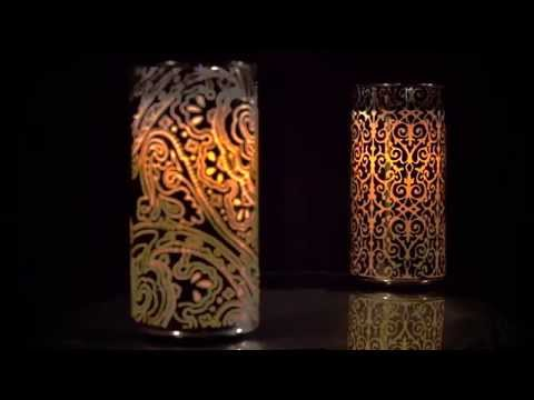 Silver Chrome LED Luminary by Candle Impressions