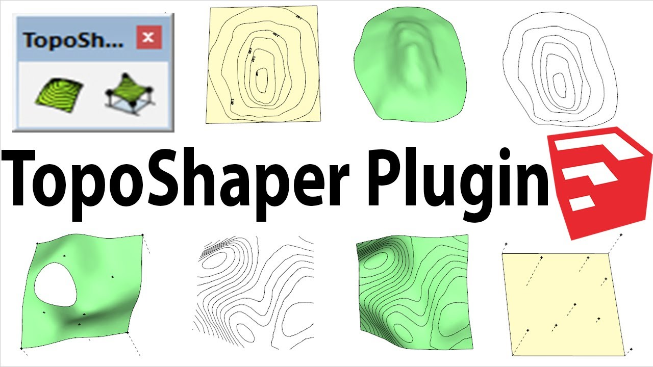 How To Use TopoShaper in Sketchup | Plugin for Contours