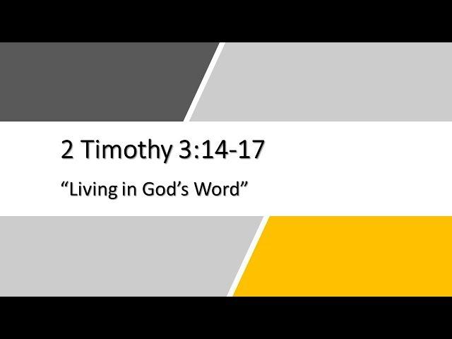 12/30/2018  2 Timothy 3:14-17 ,