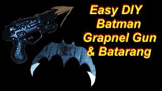 Batman Costume Tutorial - Grapnel Gun and Batarang