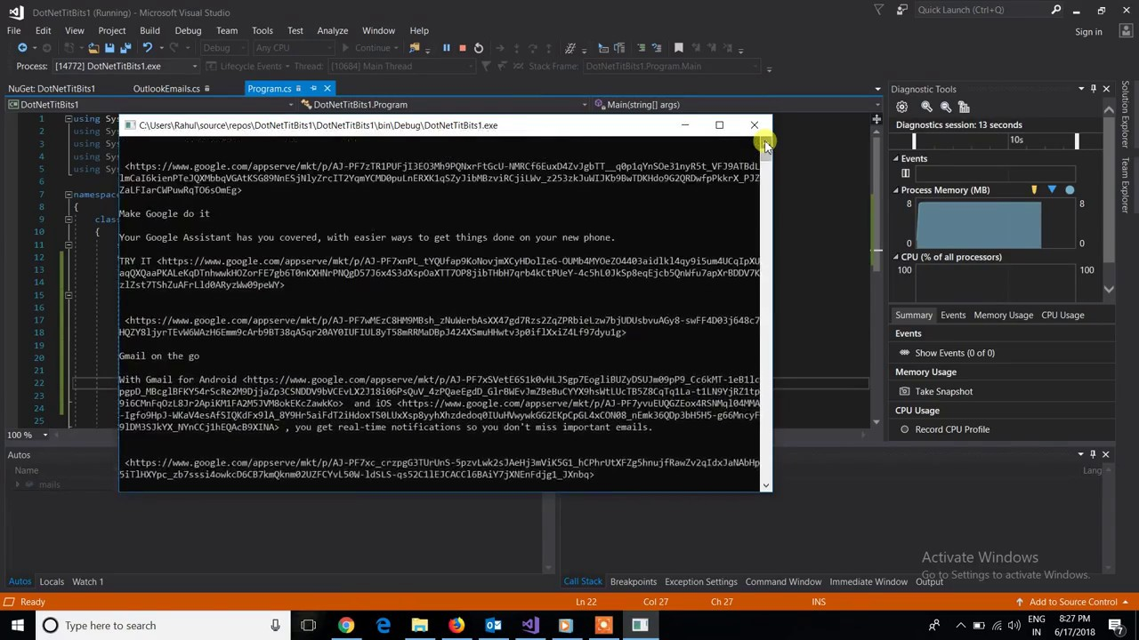 How To Read Outlook Emails Using C# - Part 3    NET Titbits