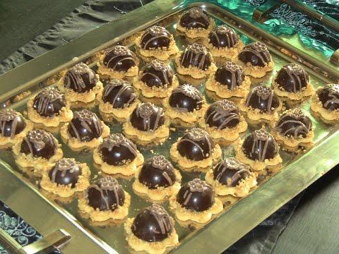 حلويات العيد صابلي بحشوة الكاوكاو(الفول السوداني )راقي ومقاديره بسيطة