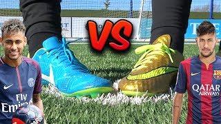 Neymar Boot Battle - New Vapor vs Old Hypervenom