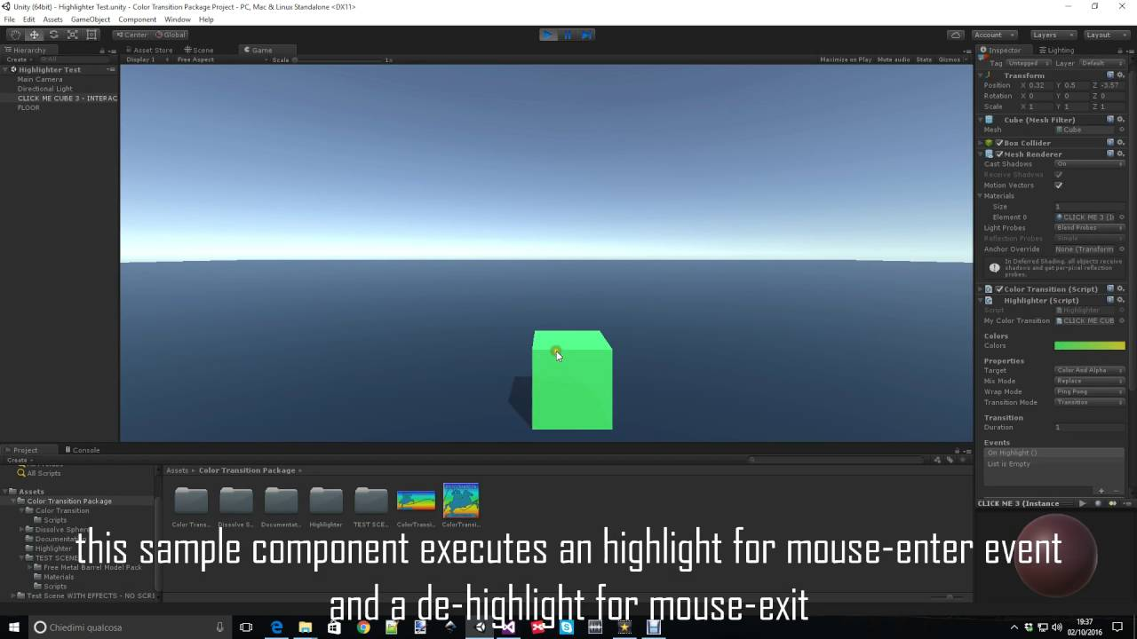 Highlighter video tutorial - Unity3D Asset Store