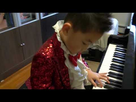 George Wang 6 years plays Allegretto in C Major by C.G.Neefe