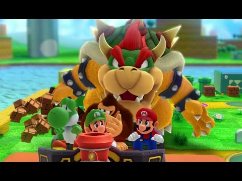 Mario Party 10 - Team Bowser Vs. Team Mario - Mushroom Park (2 Player)