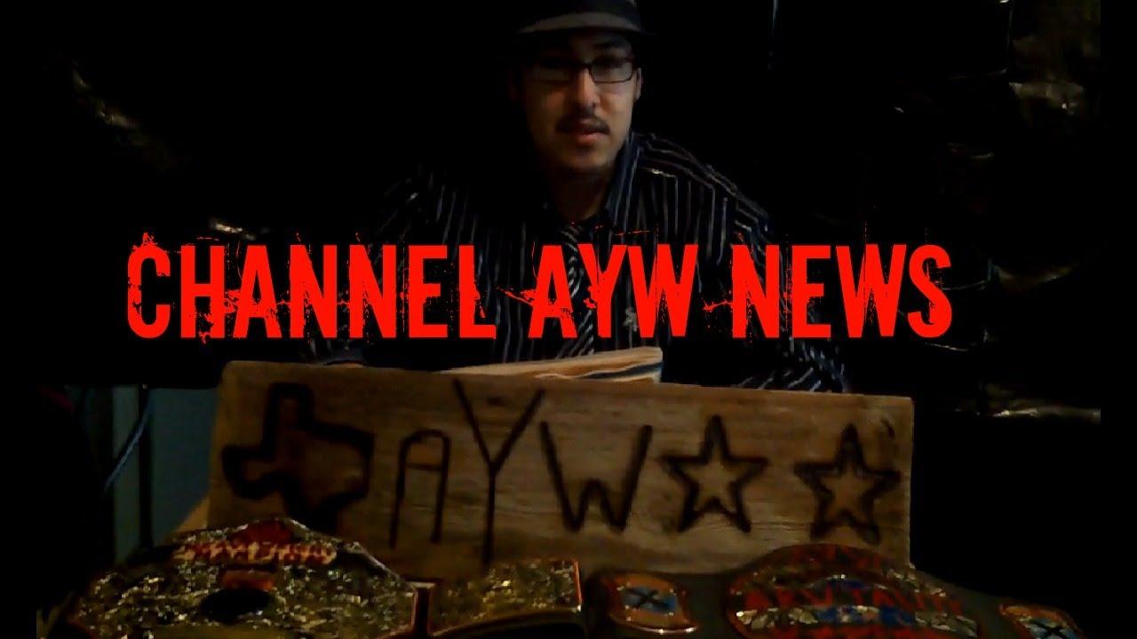 ayw backyard wrestling channel ayw news youtube