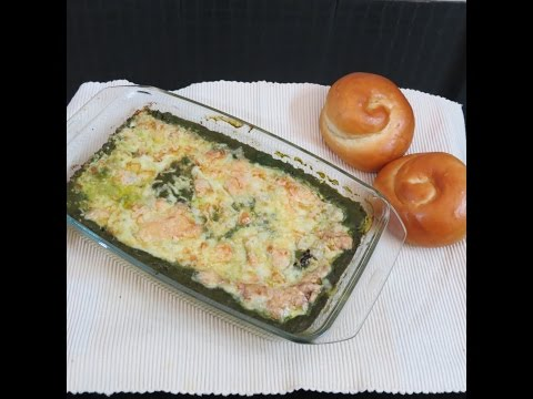 Spinach Layered Cottage Cheese Baked Dish