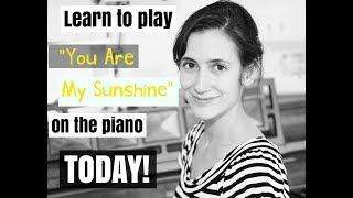 You Are My Sunshine | EASY Piano Tutorial | Accompaniment