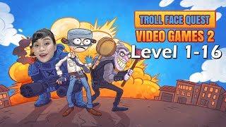 [Toozi Mobigames]❓NHỮNG CÂU ĐỐ HẠI NÃO VỀ GAME LEVEL 1-16(Troll Face Quest:Video Games 2 Level 1-16)