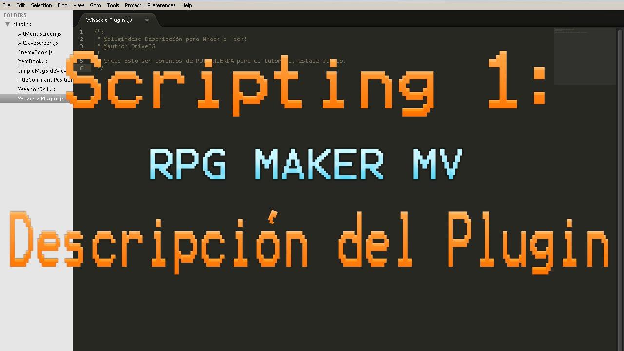RPG Maker MV: Tutorial Scripting 1 - en Español