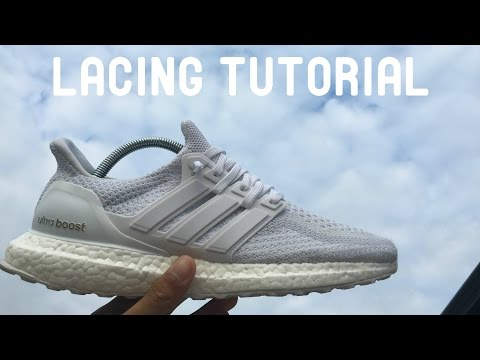 """HOW TO LACE Adidas Ultra Boost 2.0  """"Triple White"""""""