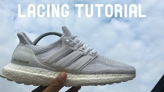 how to lace adidas ultra boost 2 0 triple white