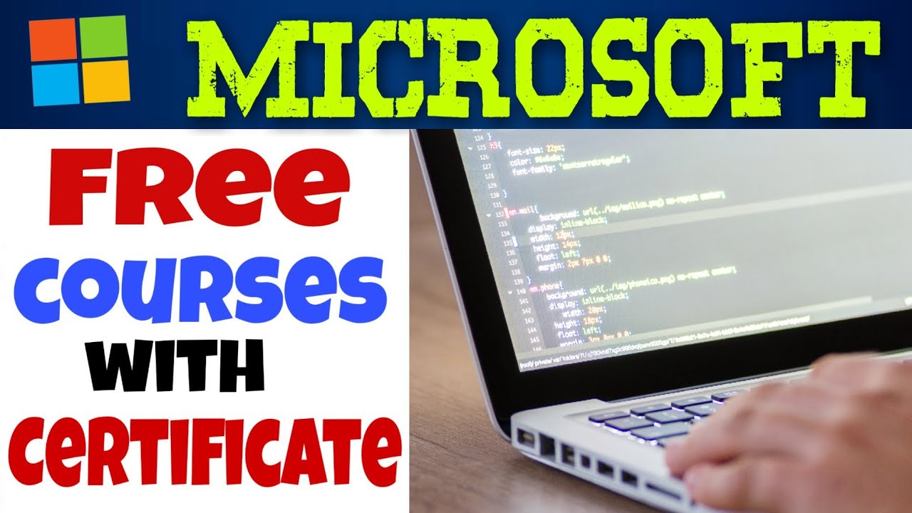 Free Course From Microsoft With Certificate Free Online Courses