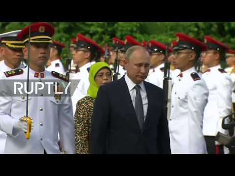 LIVE: Putin meets Singapore's President Halimah Yacob ahead of ASEAN Summit: meeting protocol